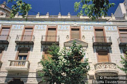 Monerris Planelles House. Thirties. Turrón related bourgeoisie. Jijona. Alicante. Spain.