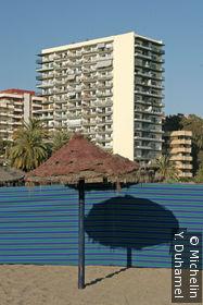 Sur la plage de Marbella