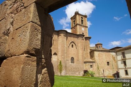 Santa Maria La Real Monastery. Najera. Way of St. James. La Rioja. Spain.