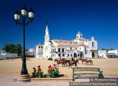 Spain / Andalusia,Andalucìa / Costa de la Luz / View of Pilgrimage church, El Rocio