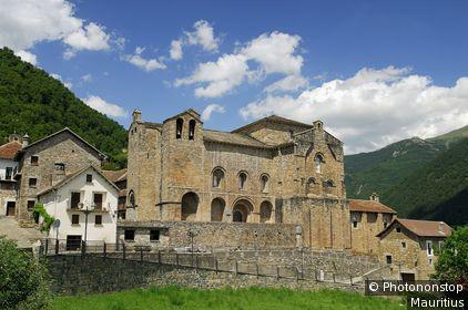 Espagne, Aragon, province de Huesca, Siresa, monastère roman de San Pedro