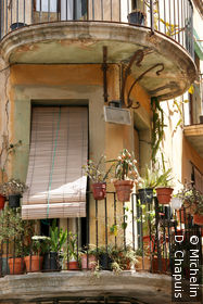 Fenêtre typique dans le quartier romain