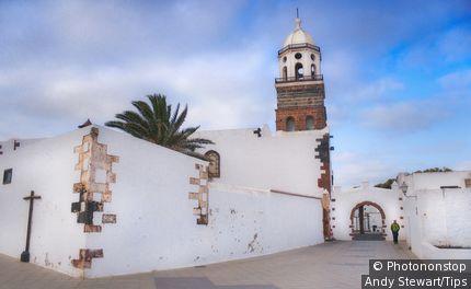 Spain, Canary Islands, Lanzarote, Teguise village, San Miguel church