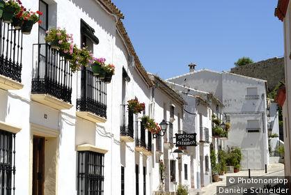 Espagne, Andalousie, province de Cadiz, Zahara de la Frontera, village blanc
