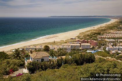 Espagne, Andalousie, province de Cadix, Costa de la Luz, Zahara de los Atunes, plage