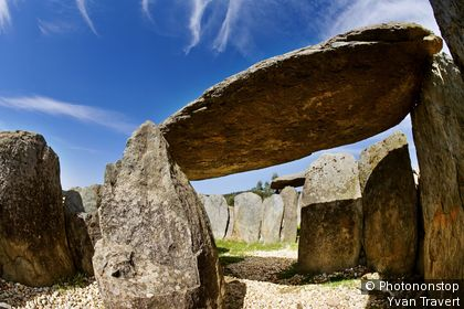 Espagne, Andalousie, province de Huelva, Zalamea la Real, El Pozuelo, dolmen n°7