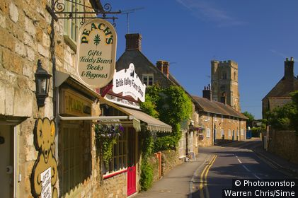 Royaume-Uni, Angleterre, Dorset, Abbotsbury, Grande-Bretagne - View over local shops