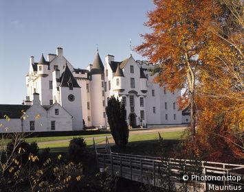Großbritannien, Schottland, Perthshire, Blair Castle, Herbst Europa, Hochland, Blair Atholl, Schloss, Blairschloss, Sehenswürdigkeit, Jahreszeit, herbstlich, außen