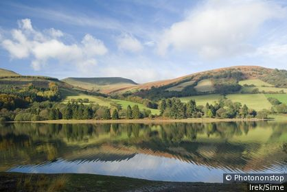 United Kingdom, UK, Wales, Tal-y-Bont Reservoir, Brecon Beacons