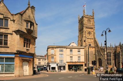 England, Gloucestershire, Cirencester, Cathedral.