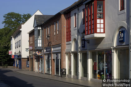 Uk, England, Essex, Colchester, typical buildings