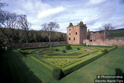 UK, Scotland. Gardens of Edzell castle