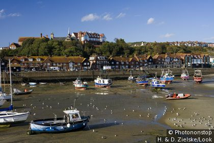 Harbour in Folkestone, Kent, England, Europe