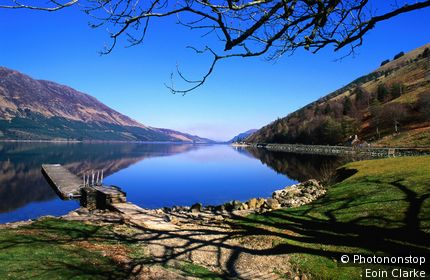 Loch Lochy near Fort William. Fort William, Highland, United Kingdom,Scotland