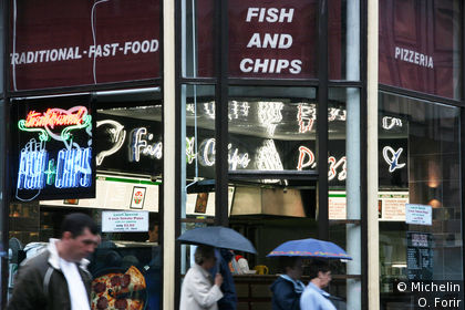 Fish and Chips sur Buchanan street.