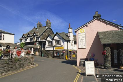 England,Cumbria,Lake District,Hawkshead Village