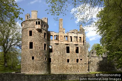 Scotland, Aberdeenshire, Huntly. The remains of Huntly Castle at Huntly in Aberdeenshire.