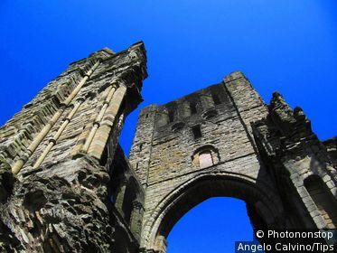 UK, Scotland, Scottish Borders, Ruins of Kelso Abbey