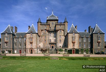 View of Thirlestane Castle. Lauder. Scottish Borders. Scotland. UK.