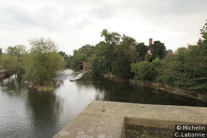 The River Teme vue depuis Ludford Bridge