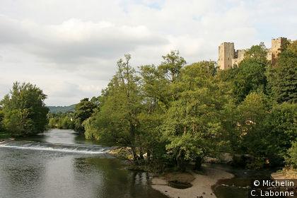 The River Teme vue depuis Dinham Bridge