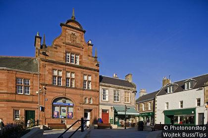 United Kingdom, Scotland, Perthshire, Melrose, Market square