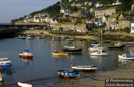 United Kingdom, England, Cornwall, The harbour at Mousehole.