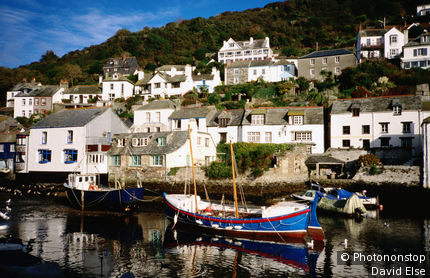 United Kingdom, England, Cornwall, Polperro, Traditional fishing harbour.