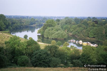 England,London,Surrey,Richmond,View of the Thames from Richmond Hill