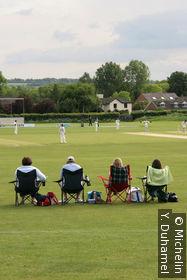 Sur le terrain de cricket