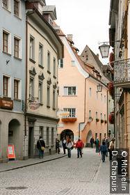 Rue commerçante dans le quartier de la Marktplatz