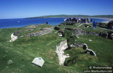 Scotland;Orkney Islands. - Stone settlement of Skara Brae