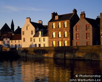 Scotland;Fife;St. Monans - Houses on the waterfront at St. Monans.