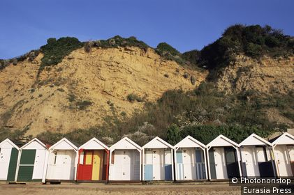 United Kingdom,Great Britain,England,Dorset,Beach Huts on Swanage Beach