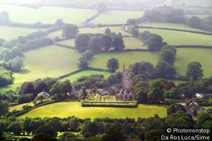 United Kingdom, UK, England, Devon, Dartmoor National Park, Widecombe in the Moor village, Cathedral of the Moors