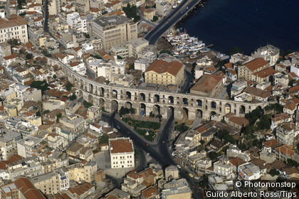Greece,aerial view of the city Kavala