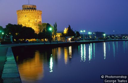 White Tower, 15th century symbol of Thessaloniki.