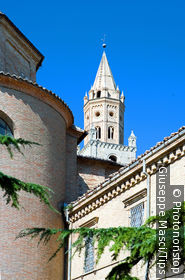 Italy. Abruzzo. Atri, the cathedral belltower