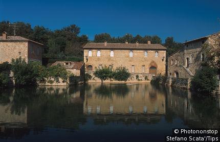Tuscany, Bagno Vignoni. Thermal Bath