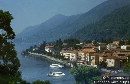 Italy, Piedmont, Lake Maggiore, Cannero Riviera