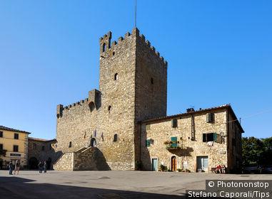 Italy, Tuscany, Chianti, Castellina in Chianti, the castle