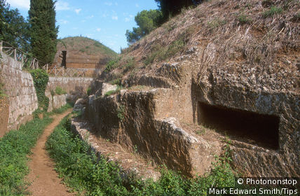 Italy, Lazio, Cerveteri necropolis