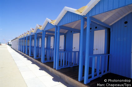 IN*Italie, Toscane, Forte dei Marmi, cabines de plage