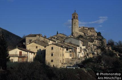Italy, Lazio, Greccio Village (Rieti)