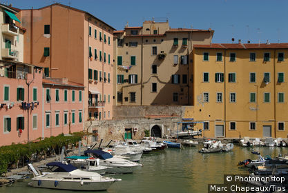 Italy, Tuscany, Livorno, historical center,the harbour