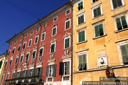 Italy, Tuscany, Massa, houses in historical center