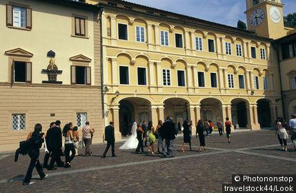 Italy, Tuscany, Livorno, Montenero church, wedding