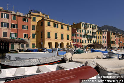 Italy, Liguria, Nervi, the harbour