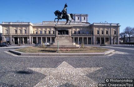 Italy, Piedmont, Novara, Piazza Martiri della Libert
