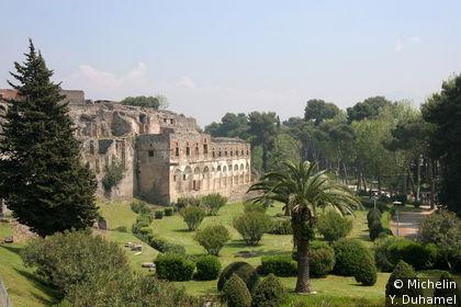 L'entrée du site archéologique de Pompéi